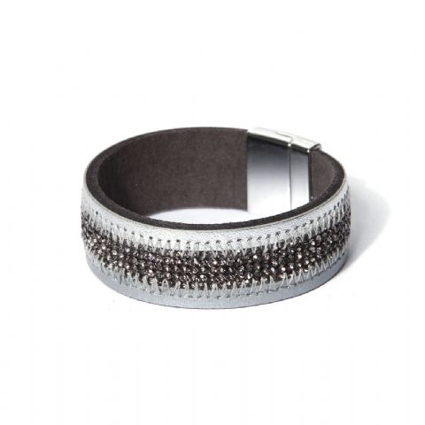 LEATHER & SPARKLE CUFF